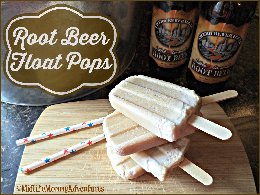 Home Made Root Beer Float Popsicles