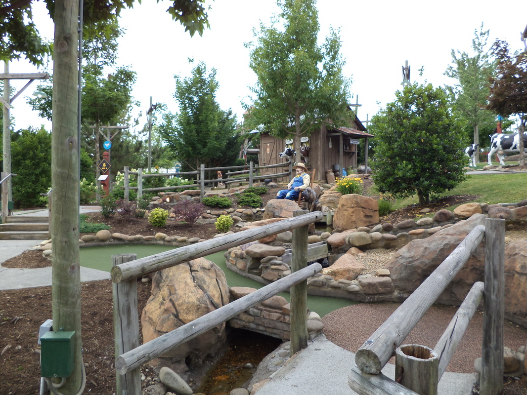 Check out our adventures at Old McDonald's Mini golf in Pigeon Forge, TN
