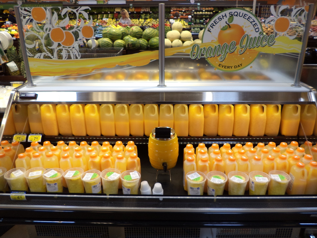 Fresh Squeezed OJ at #FranklinKrogerLaunch