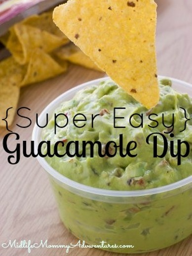 Super Easy Guacamole Dip