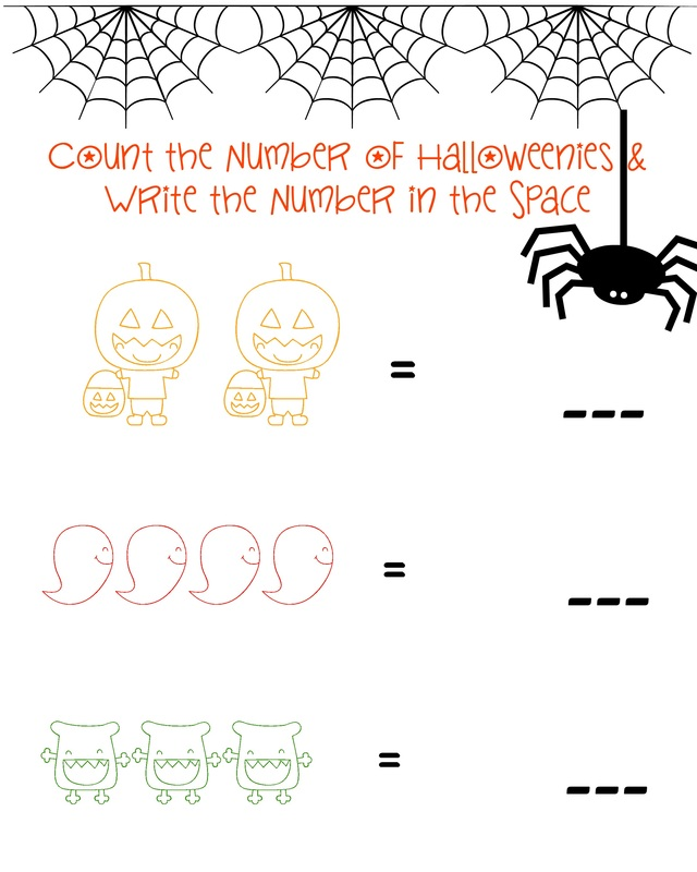 FREE Halloween Themed Counting Practice Printable