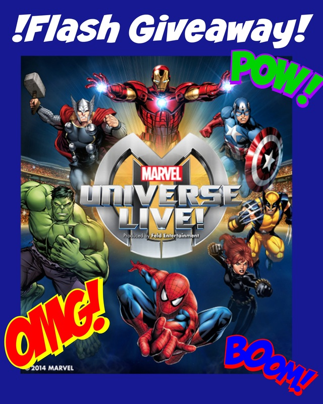 Flash Giveaway 4 Tickets to Marvel Universe LIVE at the Bridgestone Arena 12/12 at 7:00