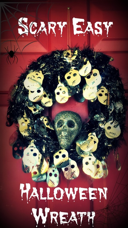 Scary Easy DIY Halloween Wreath for Only $5