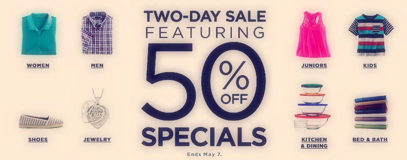 50% Off Specials 2 days Only