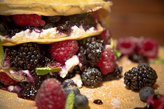 Berry Ricotta Crepe Layer Cake #GourmetGiveaway