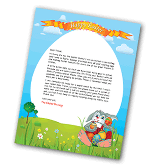 FRee Letter from the Easter Bunny