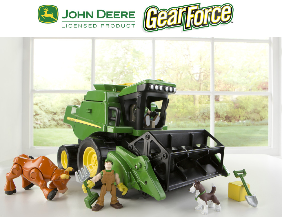 John Deere Gear Force Harvest Action Combine Playset #GiftGuide2014