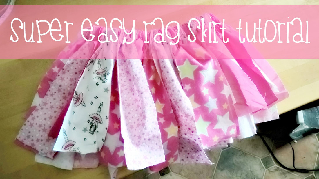 Super Easy Rag Skirt Tutorial