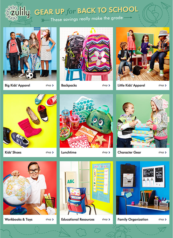 Zulily Back to School Deals