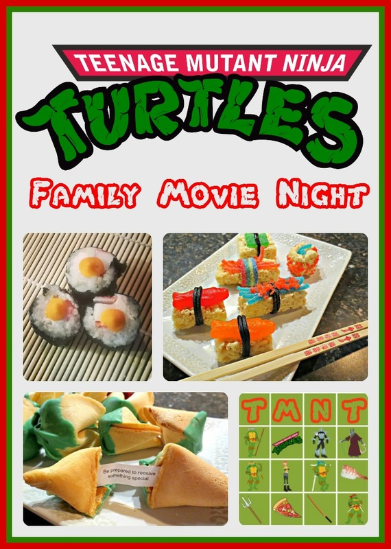 TMNT Themed #FamilyMovieNight #Activities and #Recipes
