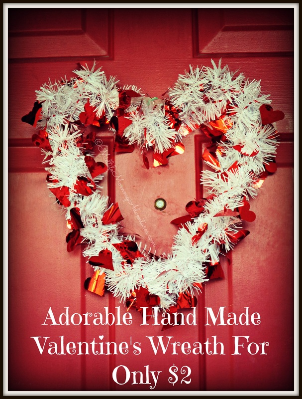 Hand Made Valentine's Day Wreath for Only $2