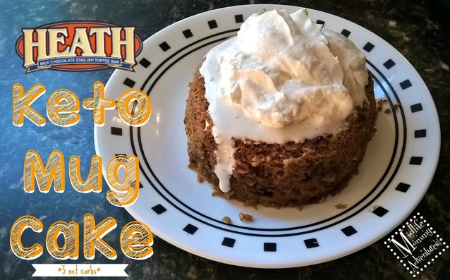 Heath Bar Flavored Keto Mug Cake